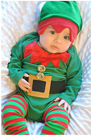 Children'S Spring Fall Boy Christmas Long Sleeve Jumpsuit Crawl Clothes Multi-P…