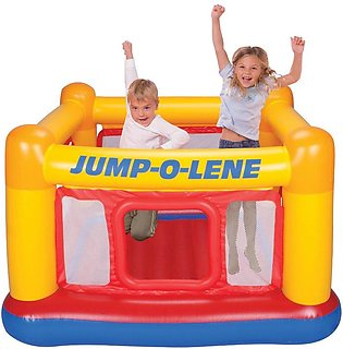 Intex Playhouse Jumpp-O-Lene Inflatable Bouncer, 68  X 68  X 44 , for Ages 3-6