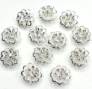 12 Crystal Pearl Flower Bridal Hairpins Accessories For Women