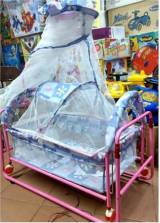 High Quality Baby Swing and Cradle with Net and Wheel