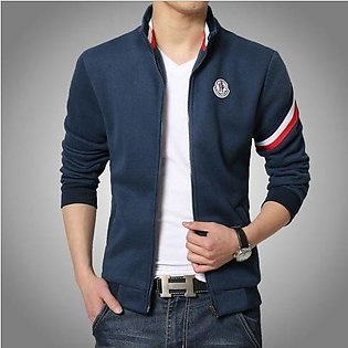 Navy blue Bomber jacket with strip