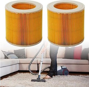 2Pcs Corrugated Filter Fit for Karcher A2004 A1000 Wet & Dry Vacuum Cleaners