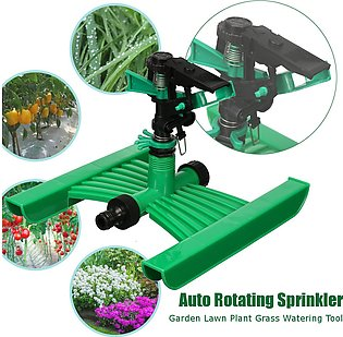 360° Rotating Plastic Automatic Nozzle Sprinkler For Lawn Garden Yard Irrigation