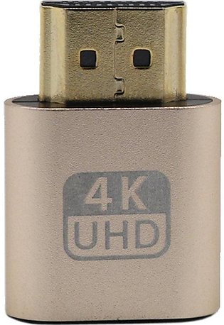 VGA HDMI Dummy Plug Virtual Display Emulator Adapter DDC Edid 1920x1080P