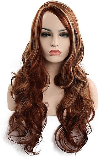 Long Curly Hair Wig Natural Lifelike Fiber Wigs Straight Synthetic Hair