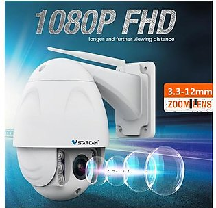 VStarcam C34S-X4 4X Zoom 1080P Wireless PTZ Dome IP Camera Outdoor FHD CCTV Video Security Camera -- EU Plug