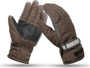 3.7V 2000mah Electrically Heated Gloves Motorcycle  Winter Warmer Outdoor Kha...