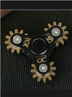 American 4 Gear Fidget Spinner - Black With Key And Box.
