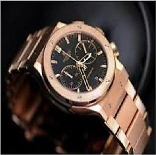 Watch For Man Rose Gold Conograph Stainless Steel 2Years Warranty