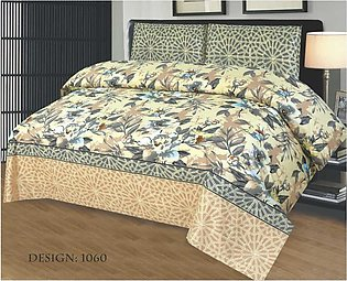 2 Single Bed sheets & 2 Pillow Covers (4-Pcs) High Quality Fabric