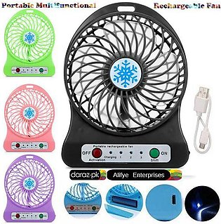 Mini Usb Portable Fan - Multifunctional Rechargeable Fan With Powerbank