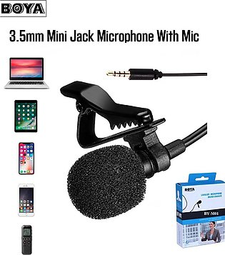 Mini Mic Condenser Boya BY-M01 Collar Mic Microphone Wired Microphone For Phone…