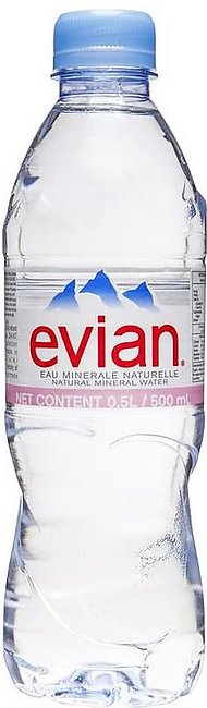 PACK OF 12 : EVIAN NATURAL MINERAL WATER 500ML IMPORTED
