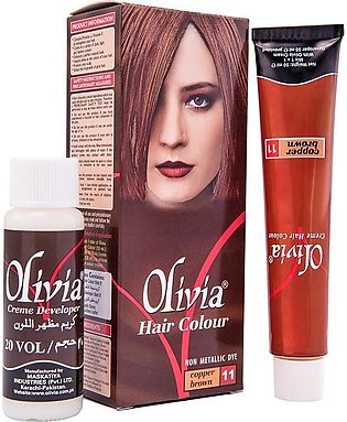 Olivia Copper Brown Hair Color