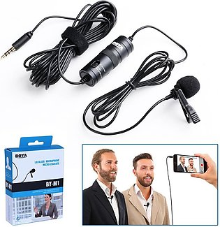Lavalier Microphone for all Devices - Boya M1 - Black