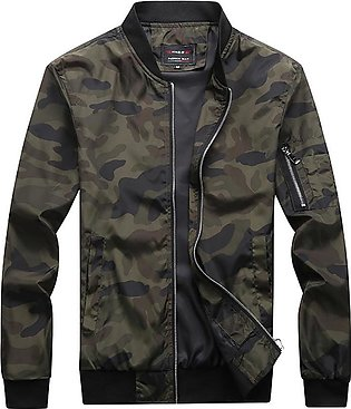 Casual Camouflage Fashion Men's Long Sleeve Jacket Stand Neck Coat