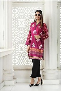So Kamal Women Summer Collection Magenta 1 PCS Stitched- Embroidered Kurti Int:L DPL 19-331