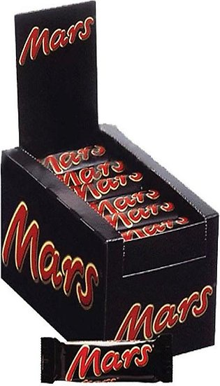 pack of 10 Mars chocolate 50 gram