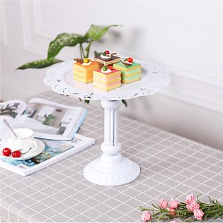"12.8"" Cake Stand Cupcake Round Metal Dessert Display Plate Tower Holder Weddi..."