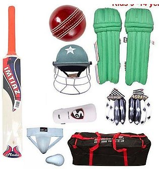 Pack of 8 - Complete Cricket Kit For kids -  9-14 Year