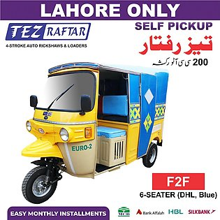 Tez Raftar 200cc Auto Rickshaw (6-Seater) - F2F (Face to Face Seating) Blue Hoo…
