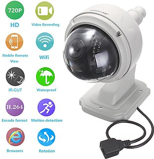 4mm lens 720p wifi security IP camera EU