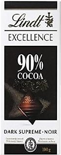 Lindt Excellence 90% Cocoa Dark Chocolate - 100G