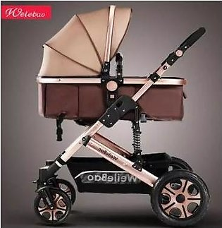 Luxury Baby Stroller Pram Light weight High View baby 2 in 1 stroller