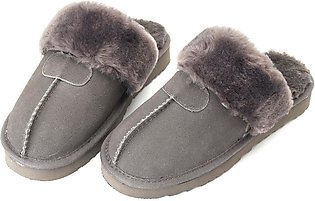 Women Winter Natural Sheepskin Fur Slippers Warm Indoor Wool Home Shoes Soft New