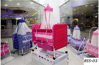 Baby Swing Cot Cradle Dual Stands Support along with Mosquito Net