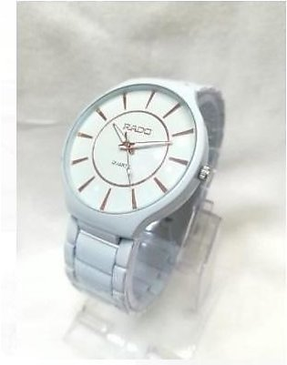 Styles Watch For Men White in Color Metal Body