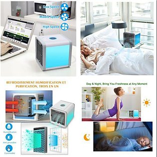Mini Air Cooler Mobile Air Cooler Portable Air Conditioner with Water Cooling...