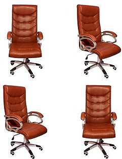 Set Of 4 - Executive Office Chair - Brown
