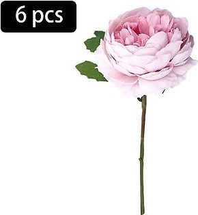 6 Artificial Flowers Silk Artificial Tea Rose Hydrangea Bouquet for Wedding Room Home Hotel Party Decoration