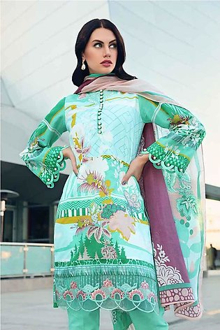 GA - GA - Gul Ahmed-Summer Collection 2019  Green Lawn-3 PC Unstitched-CL-513...