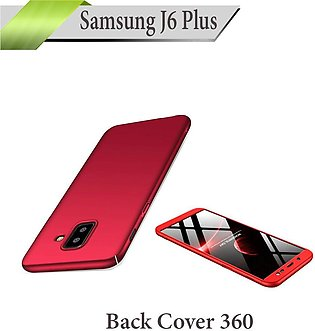 Samsung J6 Plus Back Cover 360 Case Cover For Galaxy J6+ - Red