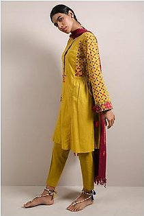 Generation-Stitched Suit Pre Fall Collection Patch Pop Suit Slub Cambric Cottage-T29002S-Yellow