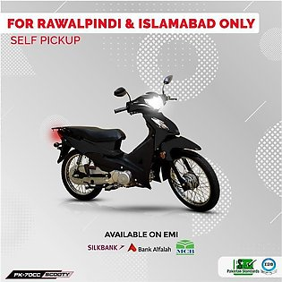 Power Scooty 70cc Black (Islamabad & Rawalpindi Only) 12-15 working days