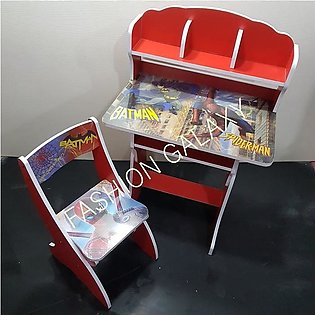 Spider-Man Character Wooden Study Table & Chair Set