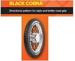 General Tyre Black Rear/Back Tyre and Tube for 70CC Motor Bikes