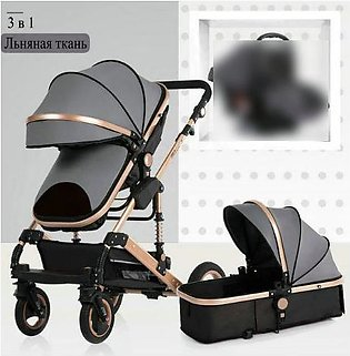 2 in 1 Luxury Baby Stroller With Carry Cot Pram