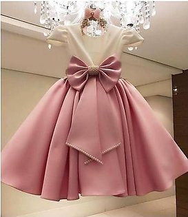 Fancy Net and Silk Frock For Girls (Size 0 to 2xl) 13
