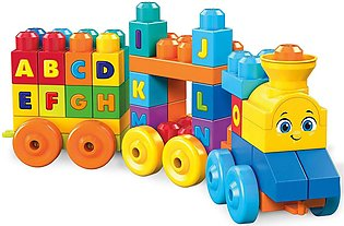 Fisher Price Mega Blocks ABC Musical Train Building Set, 50 pieces