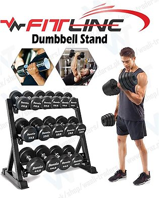 Heavy Duty Dumbbell Rack with 3 Tier Fully Iron Body (Dumbbell NOT INCLUDED)