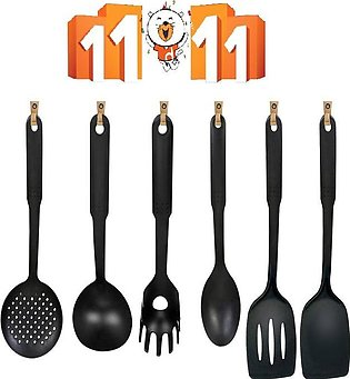 Pack of 6 - Non-Stick Cooking Utensils