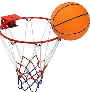 Basket Ball With Net Hoop Ring Stand
