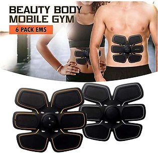 Six pack abs gym Abdomen Muscle Training Body Shape Fit Set ABS Six Pad Massage…