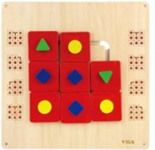 Wooden Shape maize wall toy