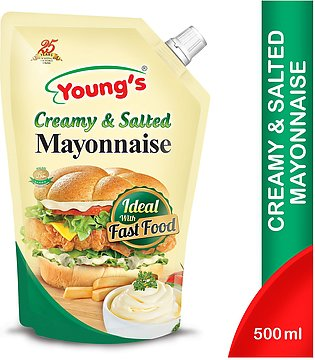 Young's Creamy & Salted Mayonnaise 500 Ml