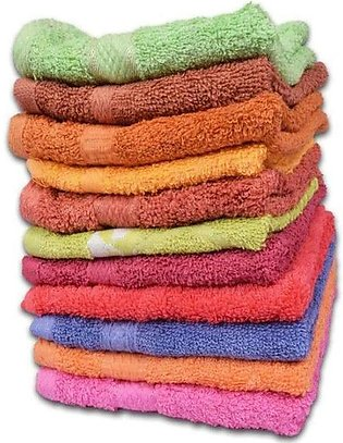 Pack Of 12 Hand Towel - Multi-Color (30x30 CM)